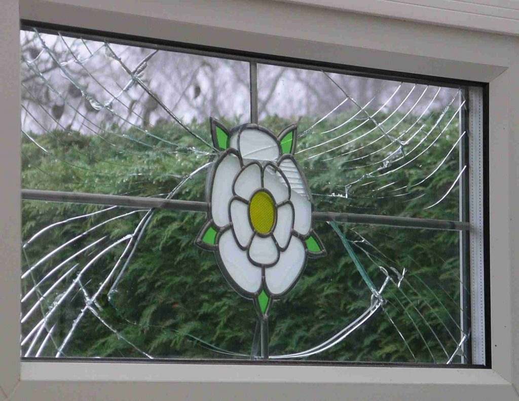 Broken Double Glazing Window Glass